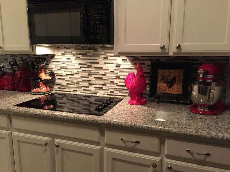 Glass backsplash and granite counter top | Kitchens