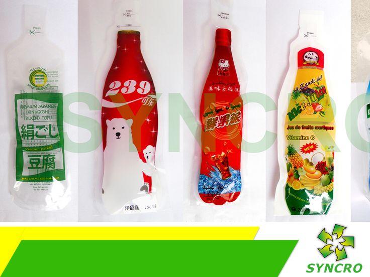 STAND UP POUCH. En Syncro fabricamos empaques flexibles especiales para bebidas, ya sea que los necesite con o sin tapas. Estos son más prácticos de transportar, al no ocupar tanto espacio como las botellas tradicionales de plástico y además, cuentan con una capa de PET que los hace biodegradables. Si desea obtener más información le invitamos a comunicarse al 01 (55) 58122808, donde con gusto le atenderemos. #bolsasparaempaques