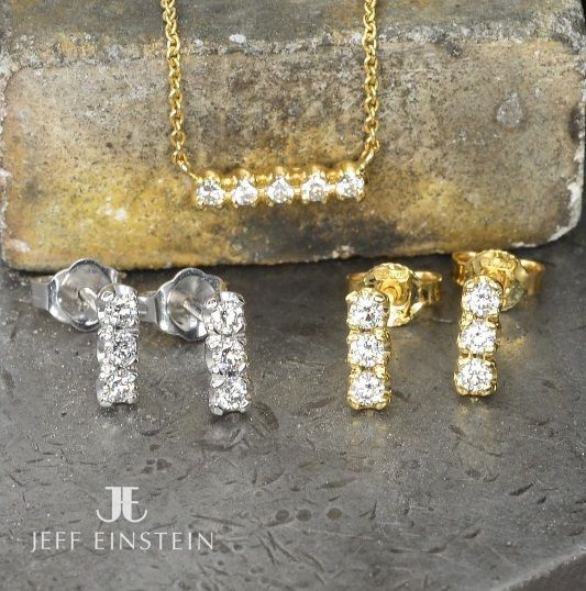 Looking for a piece of jewellery that's ideal for all occasions? Take a look at the Jeff Einstein Collection, with magnificent pieces to suit a wide range of budgets, like these diamond stud earrings and pendant ✨ . . . . #jeffeinsteinjewellery #doublebay #jewellery #handmadejewellery #jewelry #diamonds #diamondearrings #diamondpendant #giftideas #wedding #sydney