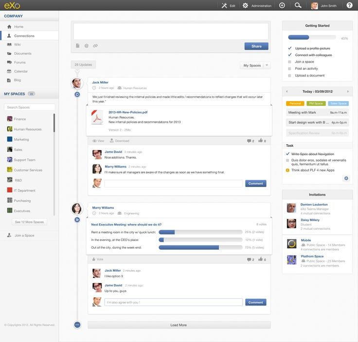eXo Platform 4 - Intranet Homepage