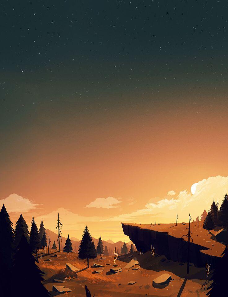 Firewatch Concept Art - Olly Moss