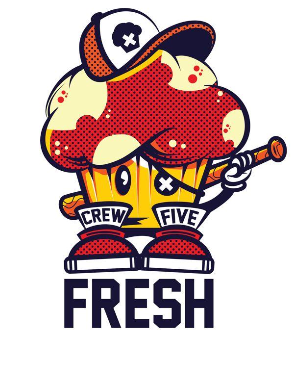 Crew Five Fresh Tee by Jason Arroyo , via Behance