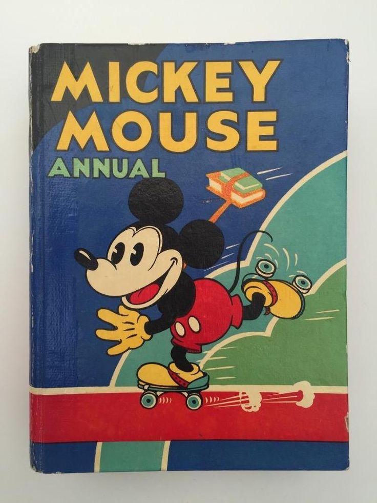 Rare Original 2nd 1932 Mickey Mouse Annual