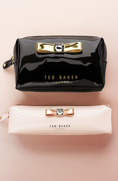 Ted Baker London 'Metallic Bow' Cosmetics Case | Nordstrom
