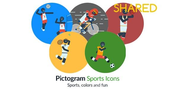 Videohive - Pictogram Sports Icons 16936399 - Free Download