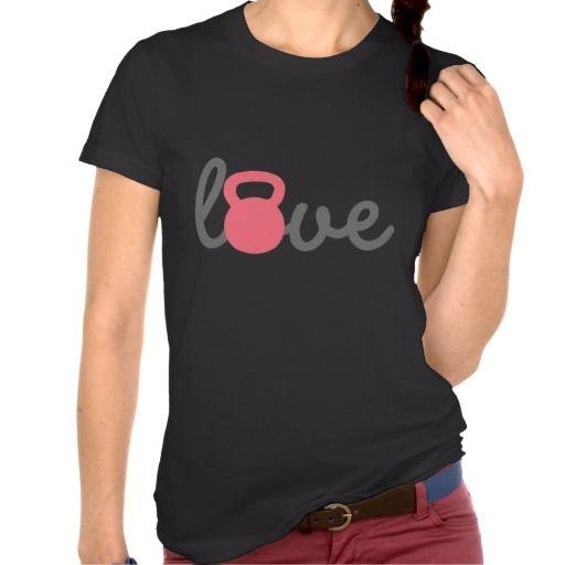 Love Kettlebell Pink Shirts