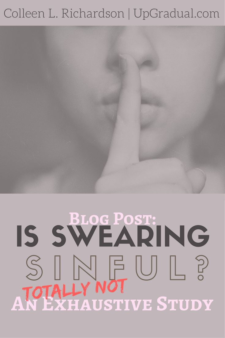 Swearing   Discernment   Humour   Sinfulness   Lighthearted   UpGradual