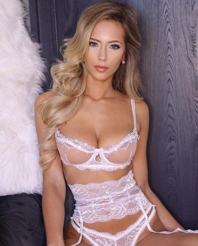 a77fbc309f Seductive stunning big breasted hot blonde model in white lingerie ...