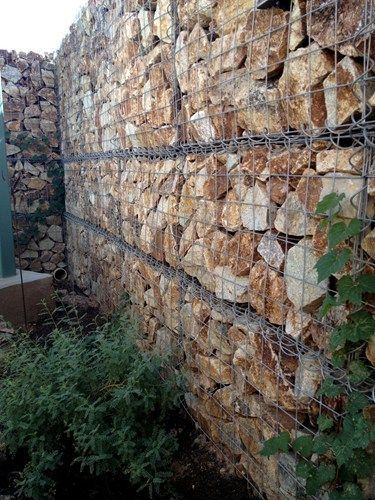 138 best images about gabions rock on pinterest wire for Gabion landscaping