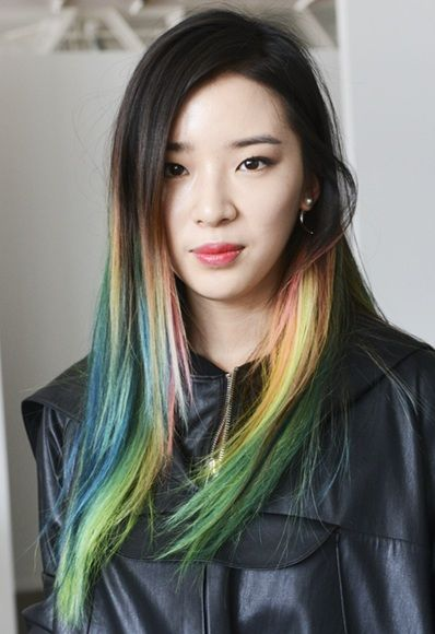 irene kim does not only redefine street style, she revolutionizes hair color & the definition of ombré.