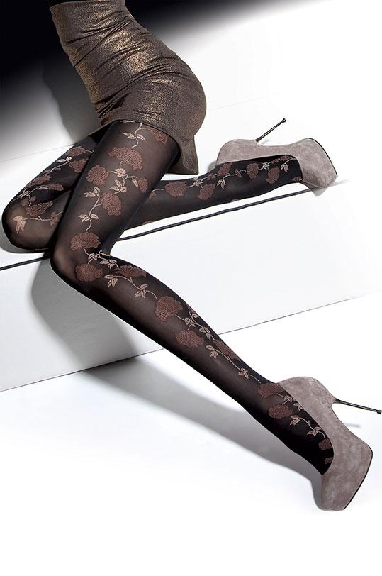 Panty Fabiana 40 Den. Con un toque floral , ideales para combinar con tonos marrones. http://www.fashionlegs.es/33-panty-fabiana-40-den.html