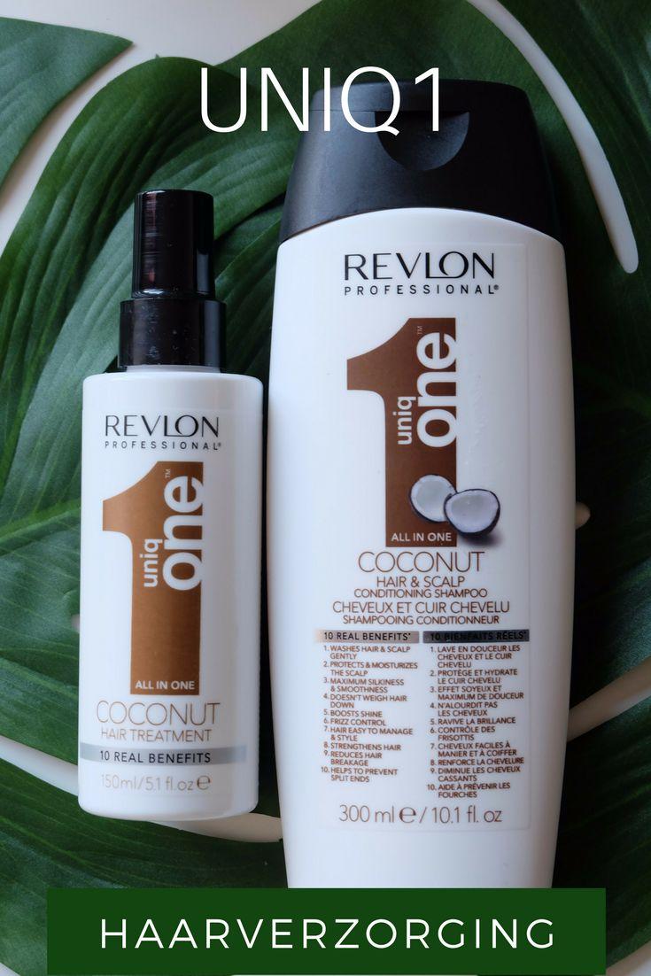 Revlon Uniq1 is een haarverzorging die onder andere gebruikt wordt bij sommige kappers. De fabrikant claimt dat dit product 10 voordelen heeft voor je haar. Ik ging testen of dit, na langer gebruik, daadwerkelijk zo is.  Revlon Uniq1 is er in drie verschillende geuren: kokos, lelies en fruit. Mijn persoonlijke voorkeur gaat uit naar de kokos variant, maar ook de fruit geur is erg lekker. Het zijn vrij prijzige producten, maar zijn ze dat ook waard? Ik probeerde het uit.