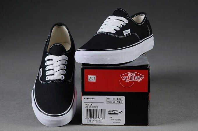 0d751f57e8 Vans Authentic Classic Black White Womens Shoes  Vans