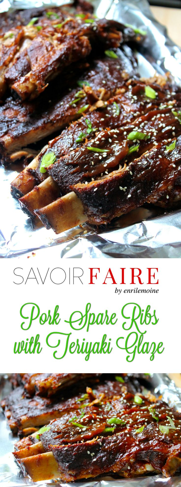 These BBQ Pork Spare Ribs with Teriyaki Glaze are to die-for. The trick is cook them in the oven and finish them on the grill over indirect fire. Click for the step-by-step recipe #Ad #SaborSmithfield via @enrilemoine