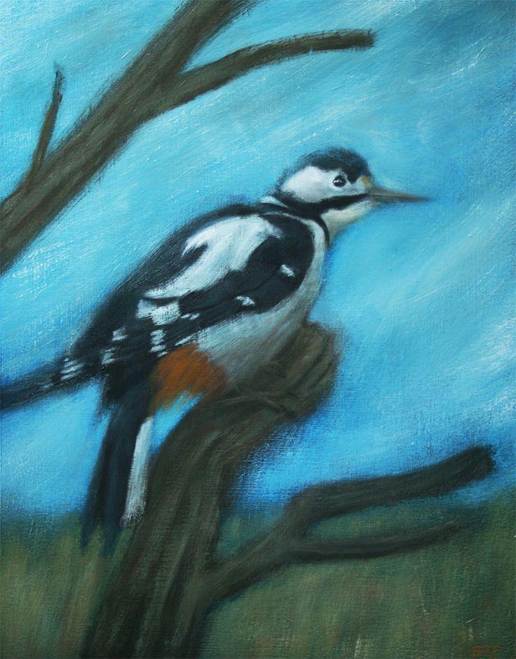 Greater Spotted Woodpecker by ShaunMichaelJones.deviantart.com on @DeviantArt