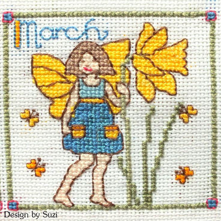 Lesley Teare - Birthday Fairies (Calendar 2015) - March