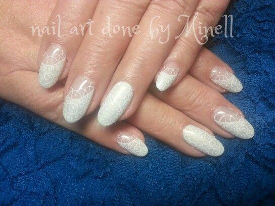 handpainted nail art wedding nails