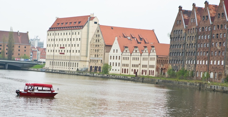Gdansk from river Motlawa