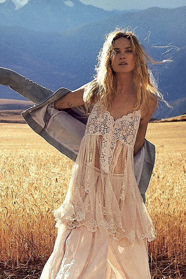 Say Hello To Heaven Slip by Free People - The latest in Bohemian Fashion! These literally go viral!