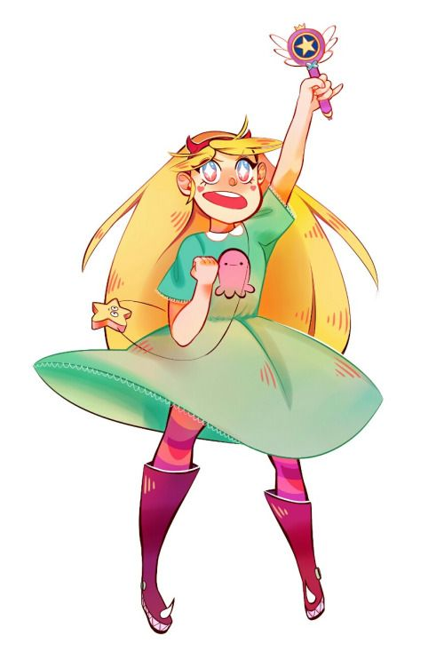 yusaname:So I watched all episodes of Star vs. the forces of Evil and I FELL IN LOVE with Star's character design.