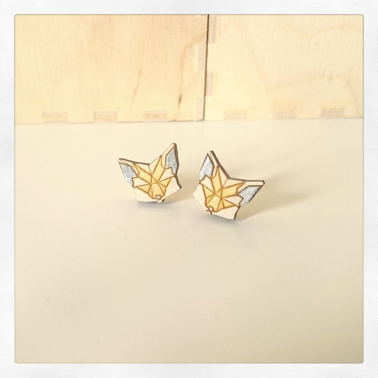 Fox earrings Manemis https://www.facebook.com/manemis