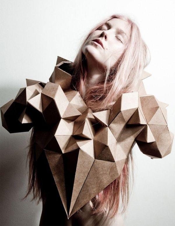 3D geometric structures - sculptural paper fashion