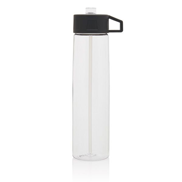750ml Tritan bottle with easy to use straw including carrying hook. The Tritan bottle with straw is BPA free.