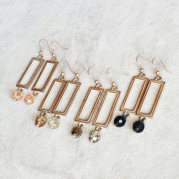 Contemporary modern earrings geometric minimalist by ELSLondon