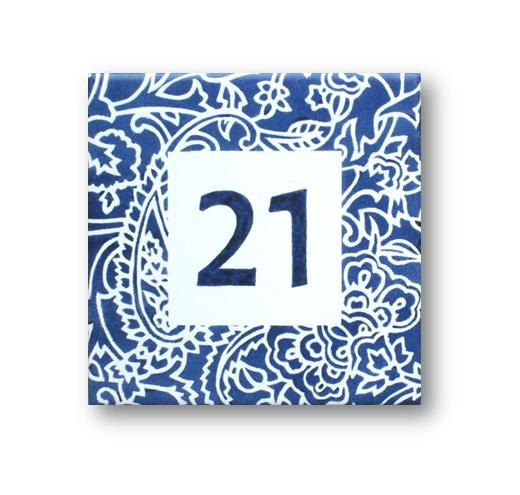 Blue White Custom Tile House Number Numbers Plaque Address In 2018 Pinterest