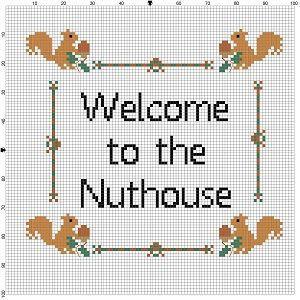 Welcome to the Nuthouse Cross Stitch Pattern  by SnarkyArtCompany