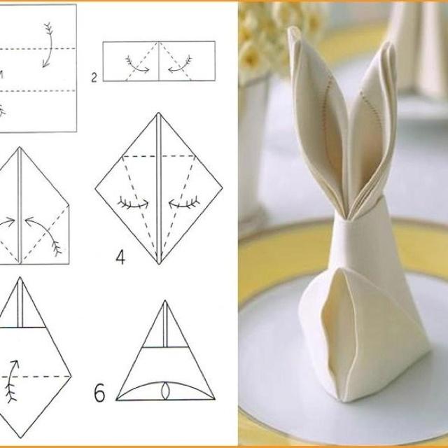 Mejores 70 im genes de toallas y servilletas dobladas en - Origami con servilletas ...