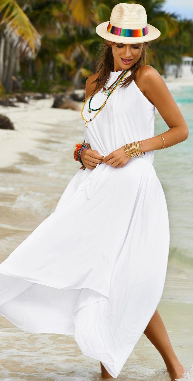 Casual flowy white dress fashion style 2015 -  Pilyq 2015 Water Lilly White Hampton Dress Southbeachswimsuits