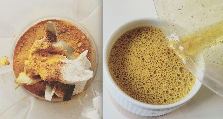 gurkemeje latte opskrift