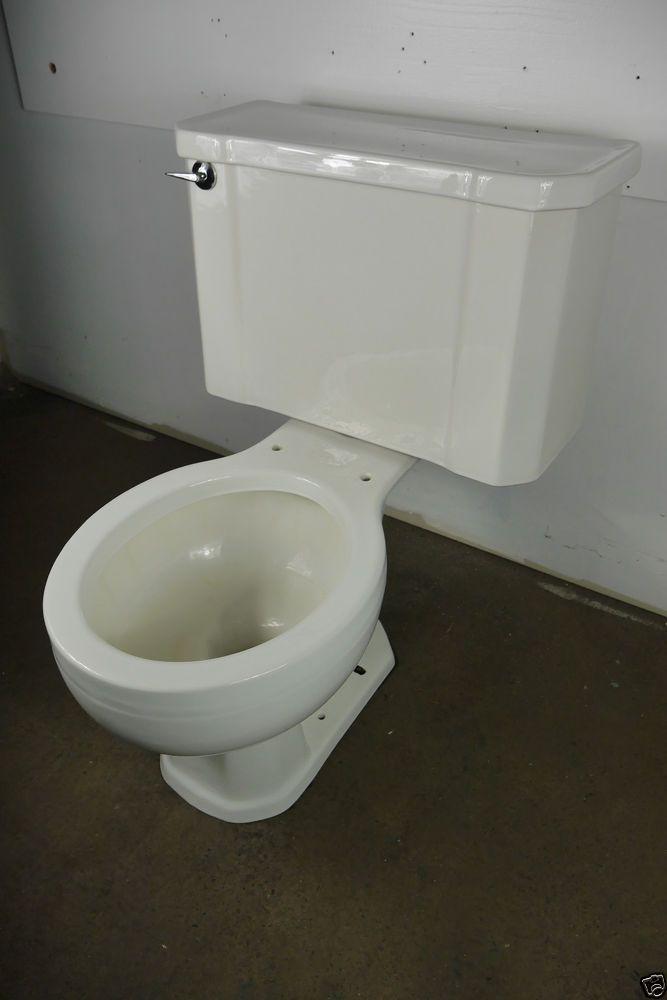 Antique Vintage Kohler Wellworth White Toilet 1950 S