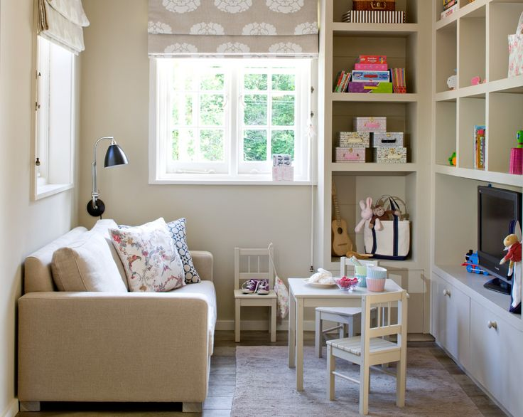 Neutral playroom for kids outside mount roman shades - Roman shades for kids room ...