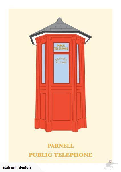 Framed A2 Digital Print - Phone Box Parnell | Trade Me