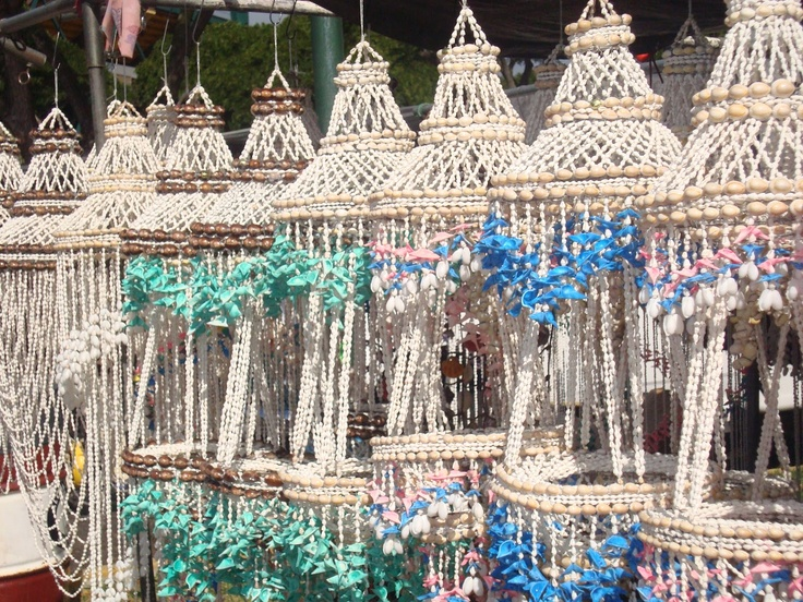 Hanging Basket Made Of Puka Shells Decor Pinterest