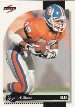 1996 Score #139 Glyn Milburn - Detroit Lions.