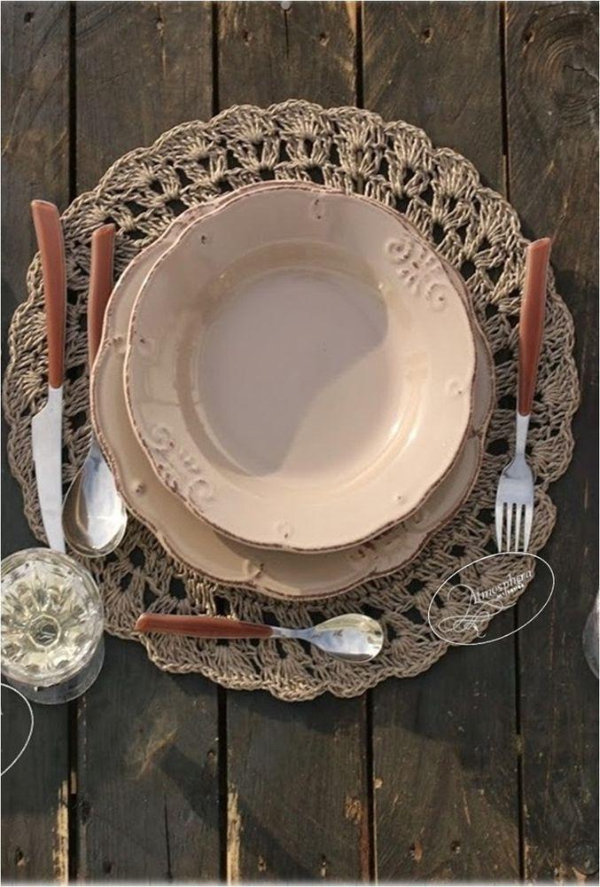 Villa d 39 este servizio di piatti duchessa fango 18 pz con - Servizio piatti design ...