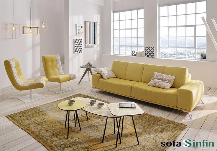 Sofá moderno de 3 y 2 plazas modelo Loft fabricado por Acomodel en Sofassinfin.es