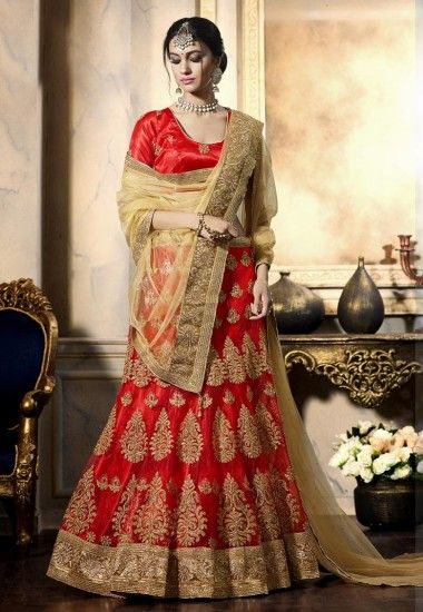 #Beautiful #Net #Red #Lehenga Net Red flared Semi Stitch lehenga designed with Zari-Resham Embroidery With Stone Work And Lace Border Work. As shown in the photo Banglori Silk Red choli is available. Price:2009.00 Shop at now:https://tinyurl.com/y9thy4sv #Beautiful #Gorgeous #Stunning #Net #Red #Lehenga #With #Choli #Border #Patten #New #Style #Onlineshop