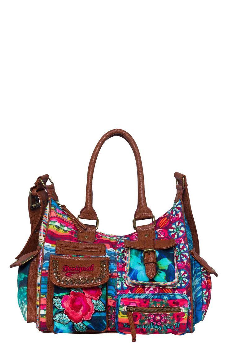 Bag with colourful pockets | Desigual London Yamileth