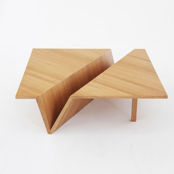 Table basse Origami. Ref: Quart de poil