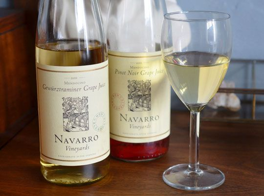 Navarro Vineyards grape juice--non-alcoholic juice made from wine varietals :) The Gewürztraminer is awesome <3