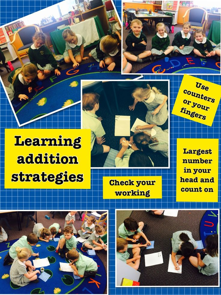 In Mathematics, Kinder is learning to use various addition strategies.