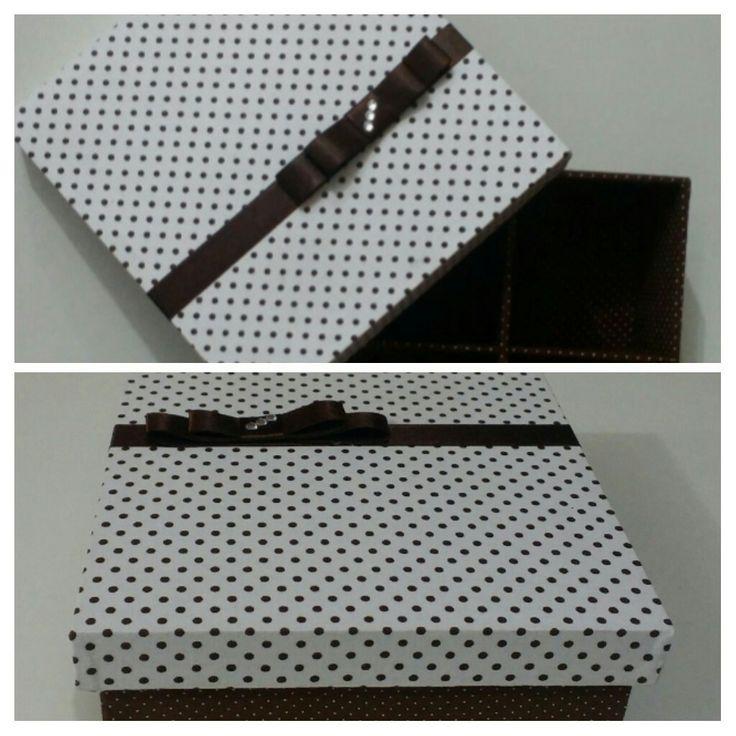 Caixa mdf pequena toda forrada com tecido  #vivaartesanato #mdf #portabiju #portajoias #poa #caixa