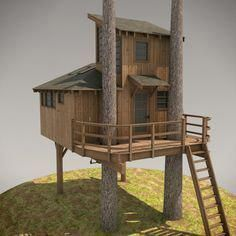 DIY Treehouse Plans No. 13: Nooksack designed by Pete Nelson – Be in a Tree #t...