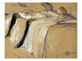 """Woman Lying on Her Back - Lassitude, Study for """"Elles"""", 1896 Giclée par Henri De Toulouse-Lautrec"""