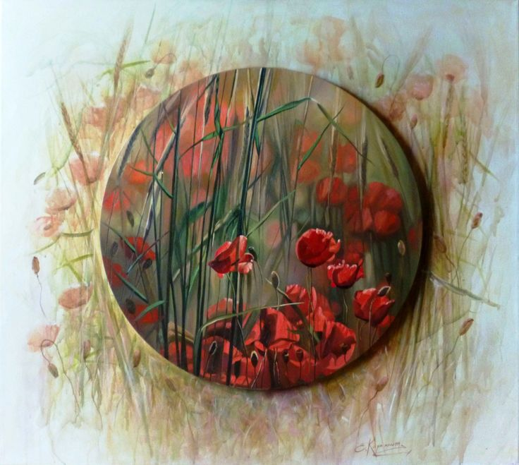 Flowers canvas art, scenery painting, oil painting on canvas, poppy painting, nature original, original artwork, wall art painting for home by OliviaArtGallery on Etsy