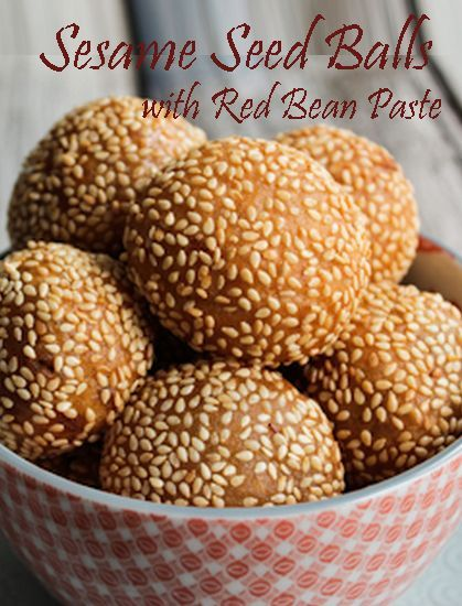 Sesame seeds with red bean filling